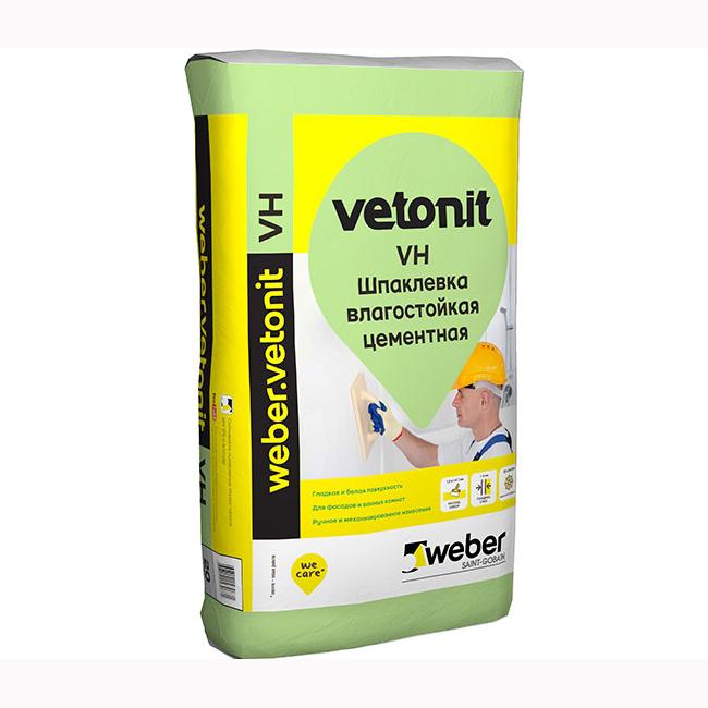 Шпаклевка Ветонит ВХ (Vetonit VH) белая 20кг.