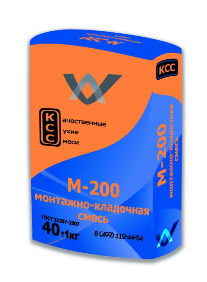 Монтажно-кладочная смесь М-200 КСС. 40кг