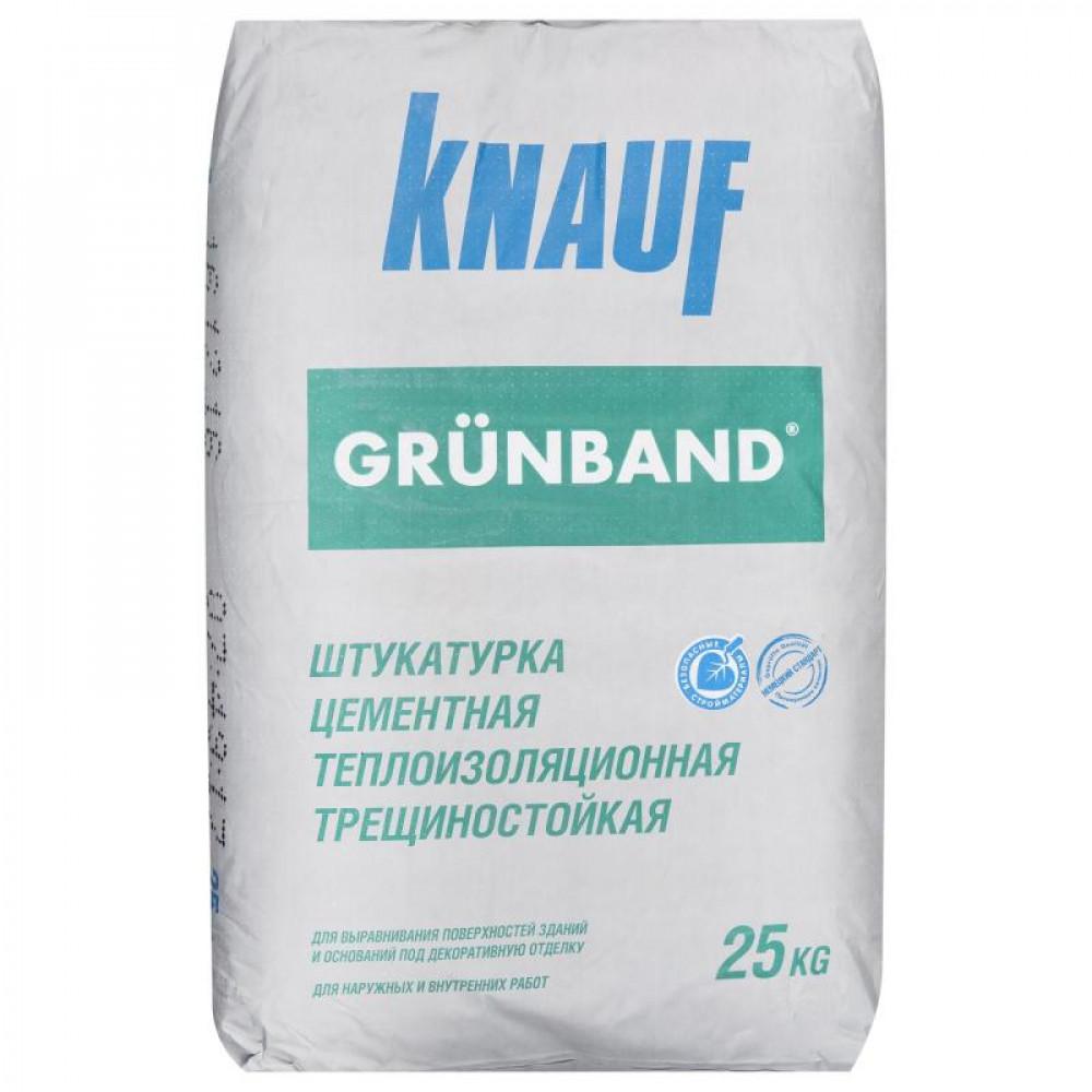 Штукатурка цементная теплоизоляционная фасадная КНАУФ-Грюнбанд 25кг