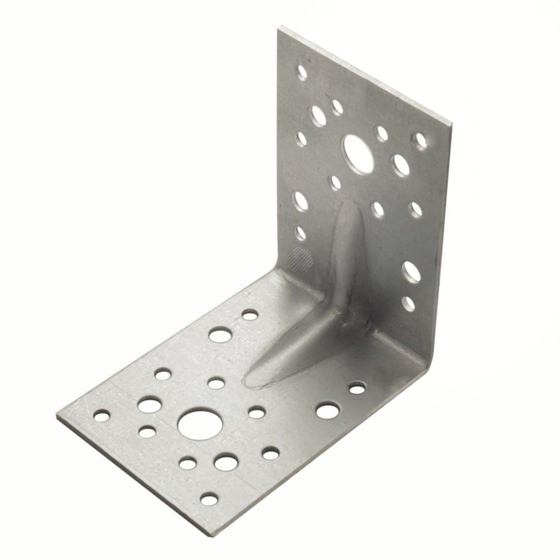 Уголок крепежный усиленный 50х50х36х2 мм оцинкованный
