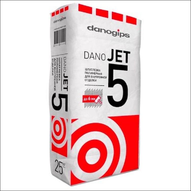 Шпаклевка полимерная Danogips Dano Jet 5, 25 кг