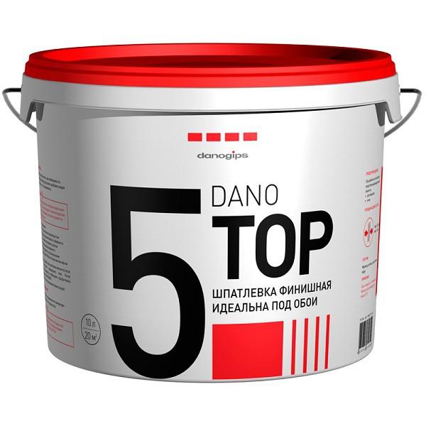 Шпатлевка финишная полимерная Danogips Dano Top5. 16,5кг