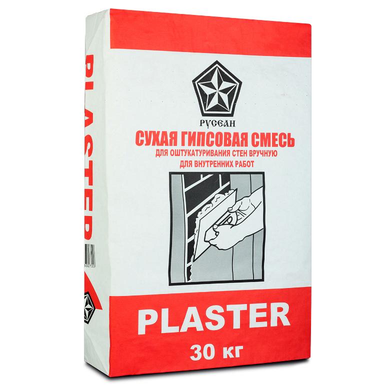 Гипсовая штукатурка Русеан Пластер, 30кг.