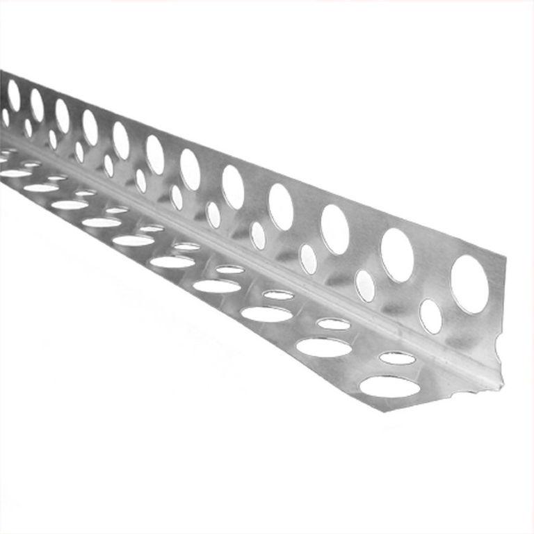 Уголок защ. 25*25*3м алюминиевый перфорированый