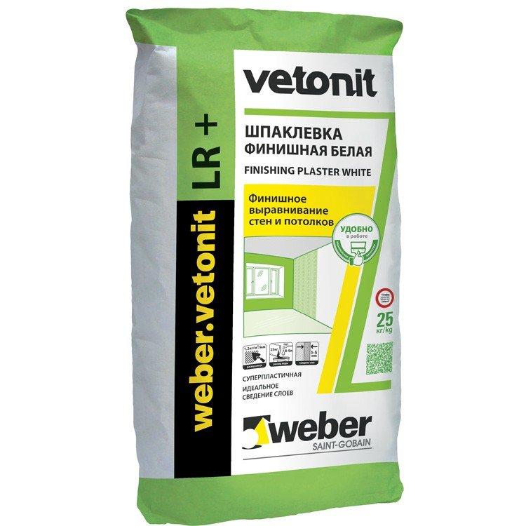 Шпатлевка Vetonit LR+ (Ветонит ЛР+) финишная 25кг.
