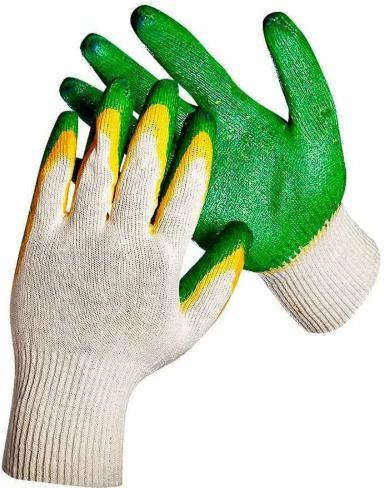 Перчатки обливные зеленные