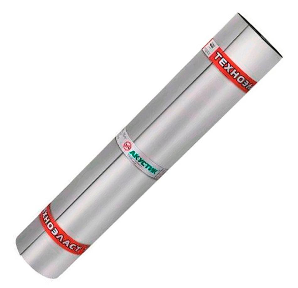 Звукоизоляция ТехноНиколь Техноэласт Акустик Супер А350, 4.8 мм 100х10м. (1 рулон/10 м2)