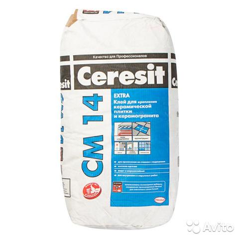 Ceresit CM 14 клей для керамической плитки и керамогранита