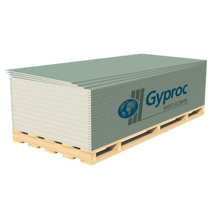 Гипсокартонный лист (ГКЛ) Gyproc Аква Лайт влагостойкий 2500х1200х9.5мм