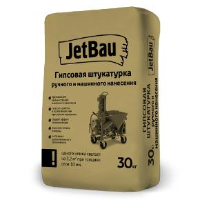 Гипсовая штукатурка Белая «Машинного нанесения» ДжетБау Профи 30 кг