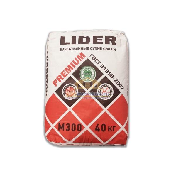 Пескобетон М-300 Лидер / LIDER Premium 40кг, ГОСТ 31358-2007