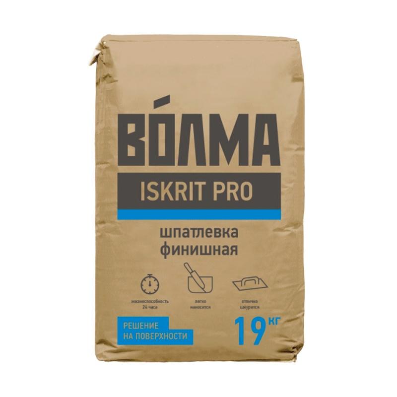 Шпаклевка финишная полимерная Волма Iskrit Pro, 19 кг