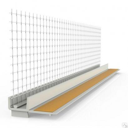 Профиль примыкания оконный самоклеящаяся с сеткой 6 мм 2.4 м пластиковый