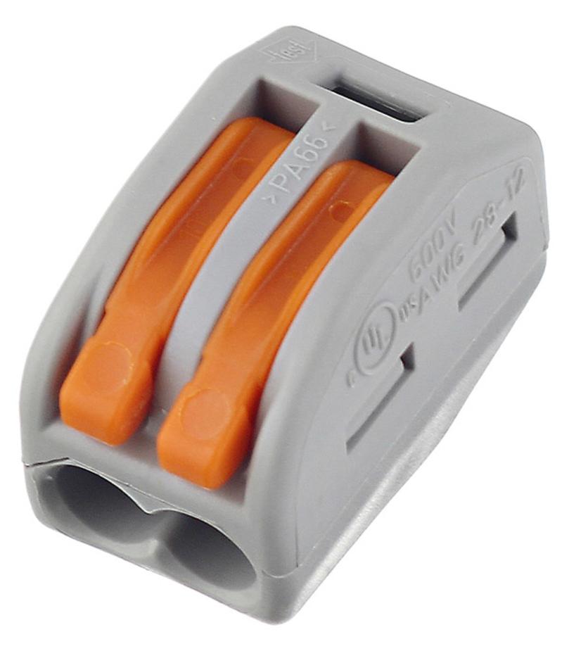 Клемма на 2 провода Wago 222-412 0,08-2,5 кв. мм с рычажком